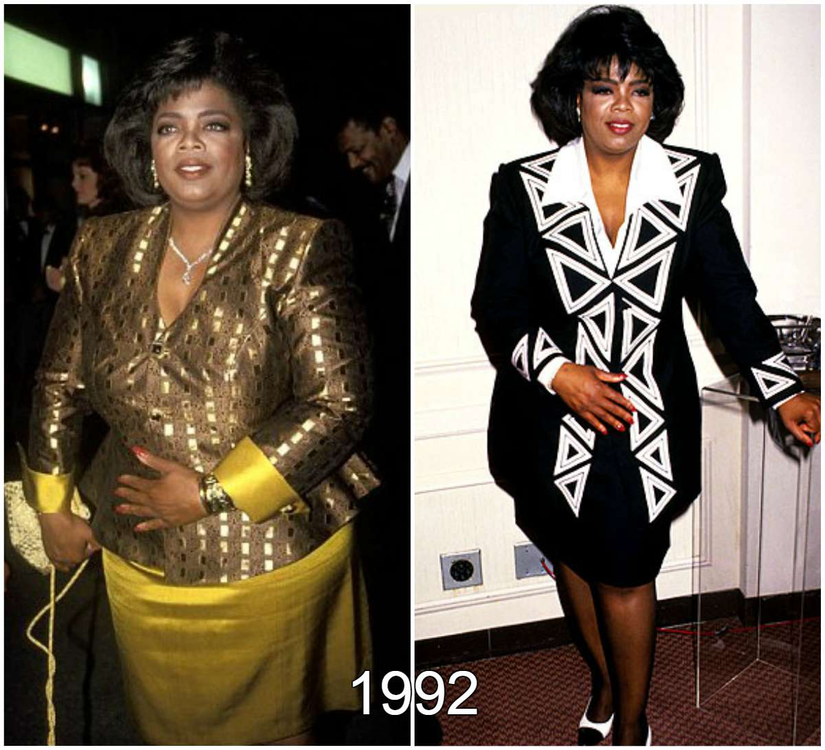 Oprah Winfrey put on weight in 1992