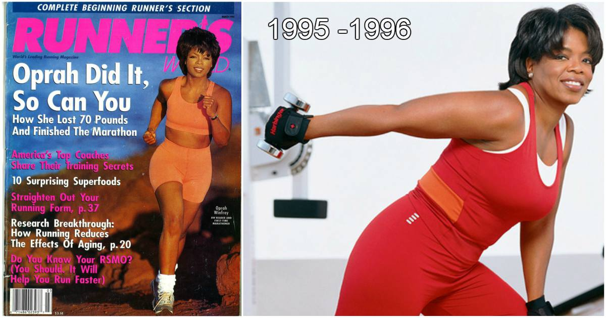 Oprah Winfrey weight loss in 1995-1996