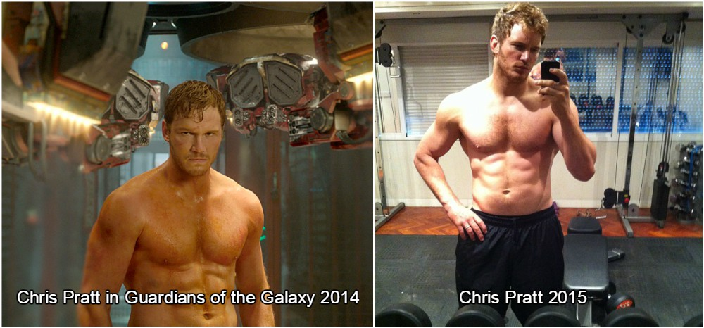 chris pratt having the muscles grown for guardians of the galaxy