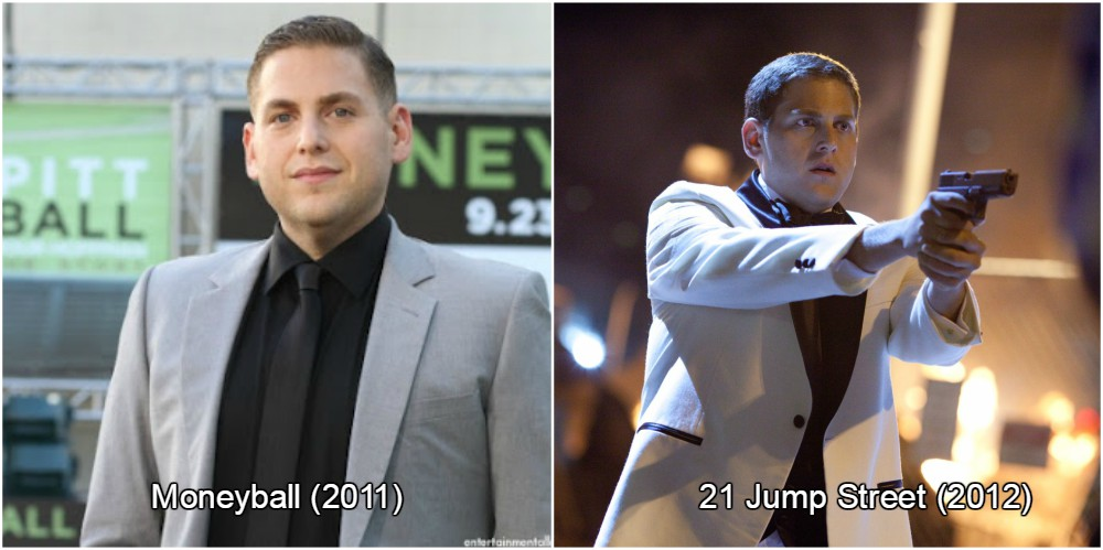 jonah hill lost 40 pounds, which is equal to 18 kilos