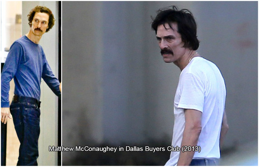 matthew mcconaughey lost nearly 47 pounds, which is equal to 21 kilos.