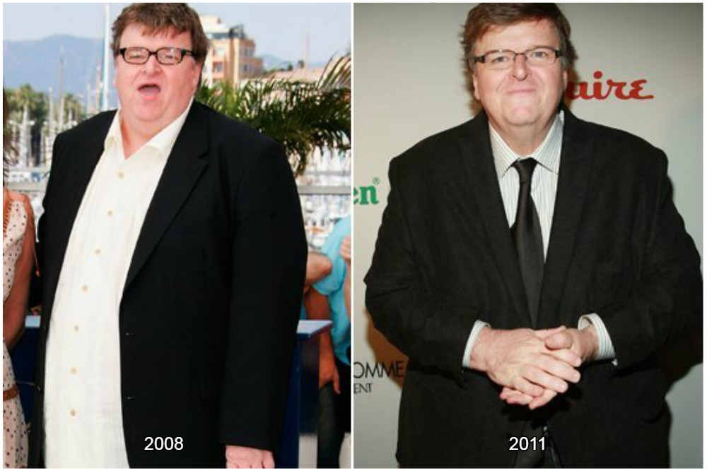 michael moore before and after losing weight