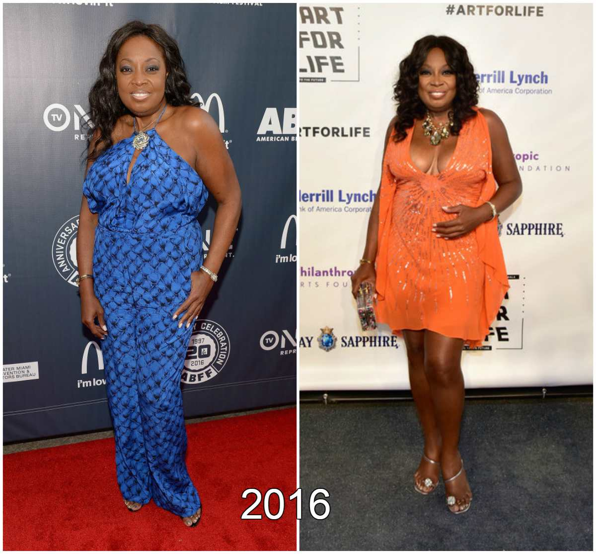 Star Jones weight changes in 2016