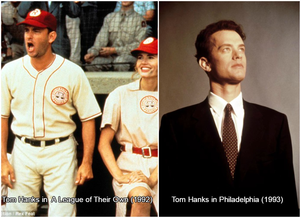 tom hanks put 30 pounds in shape, which is equal to 13,5 kilos for A League of Their Own
