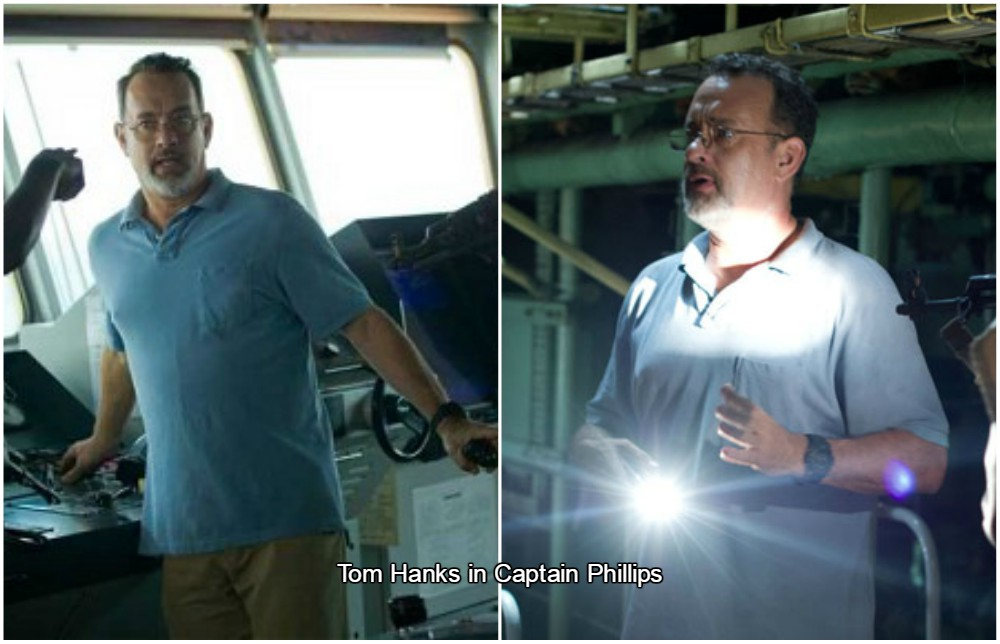 tom hanks weight in Captain Phillips