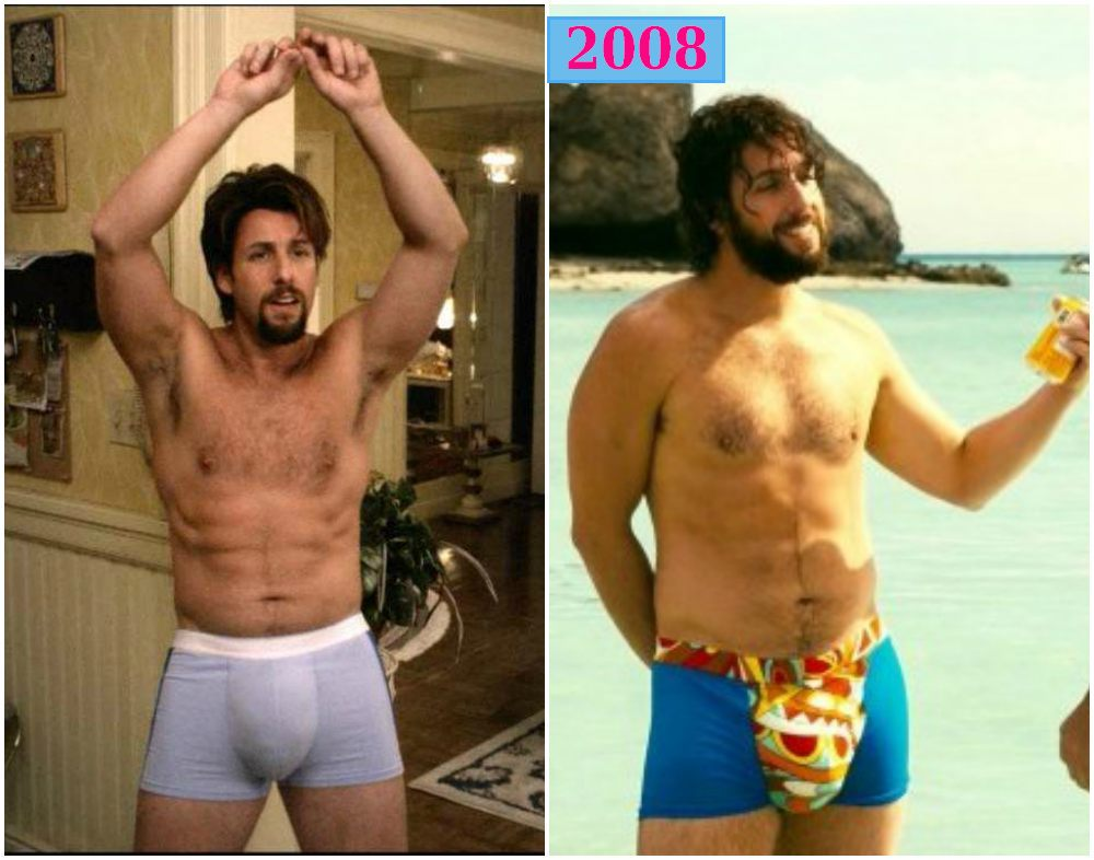 Adam Sandler`s body transformations throughout career