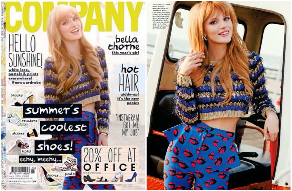Bella Thorne magazine cover Company UK, 2014