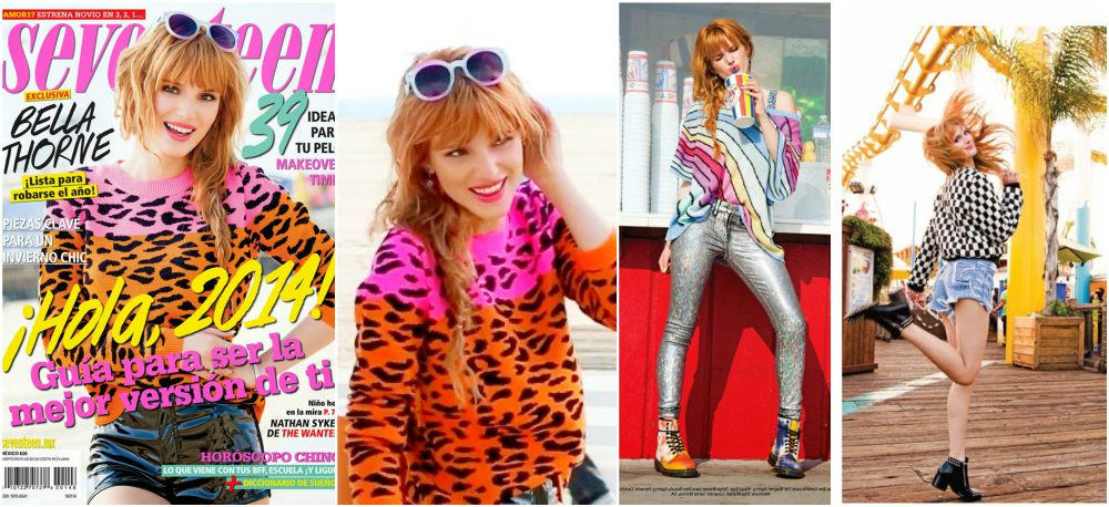 Bella Thorne magazine cover Seventeen Mexico, 2014