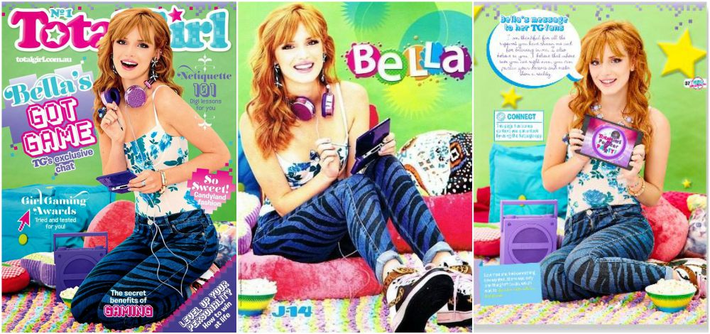 Bella Thorne magazine cover Total Girl, 2013