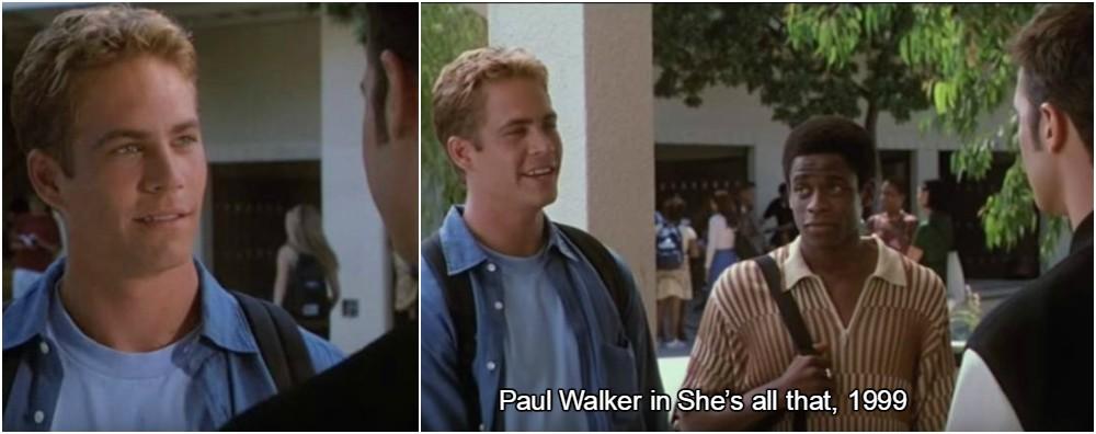 In memory of Paul Walker. His best movie appearance