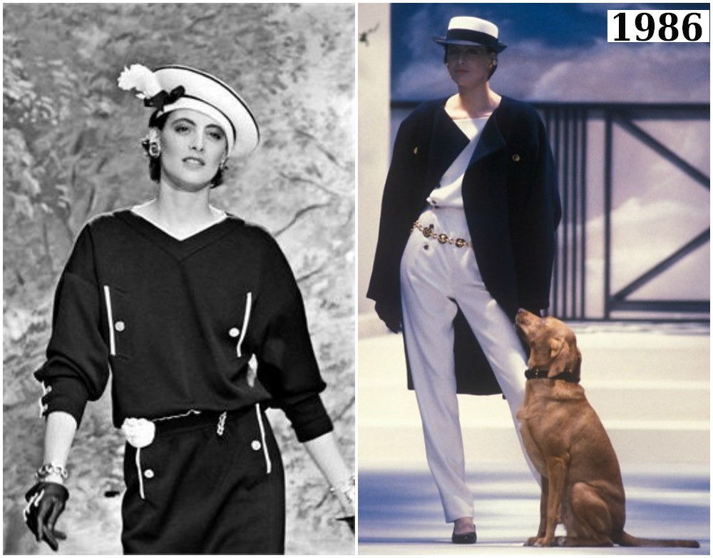 Flashback - Karl Lagerfeld: 1986 – Spring-Summer Collection: Navy and White