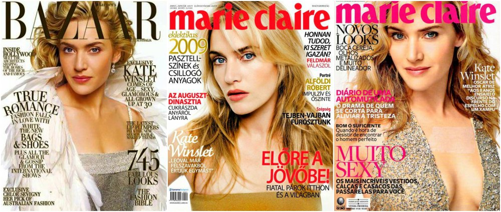 kate winslet magazines covers 2006 harpers bazar and marie claire hungary brazil