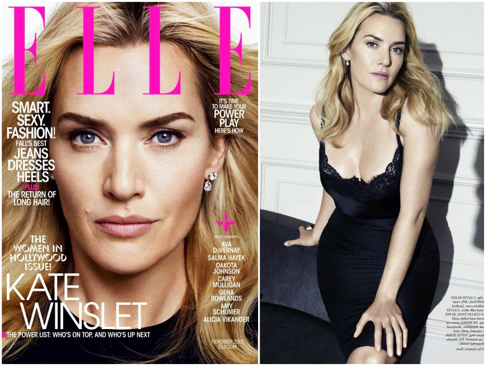 Kate Winslet magazines covers - US Elle, November 2015
