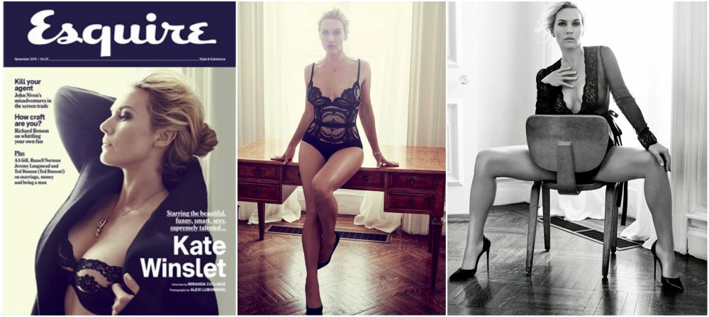 Kate Winslet magazines covers - Esquire UK, November 2015