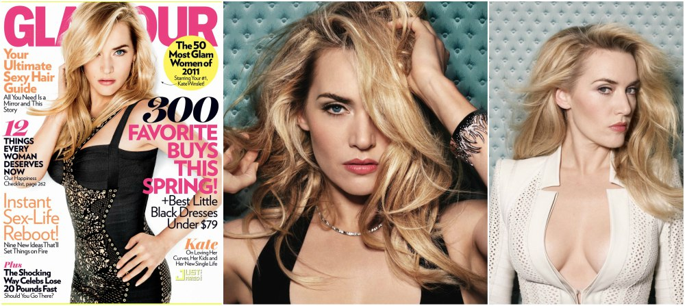 Kate Winslet magazines covers - Glamour USA, April 2011