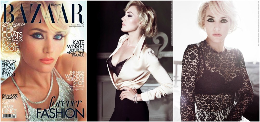 Kate Winslet magazines covers -Harper`s Bazaar, November 2011