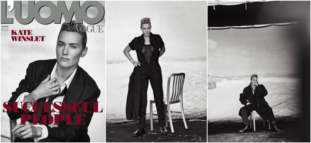Kate Winslet magazines covers - L'UOMO Vogue, November 2015