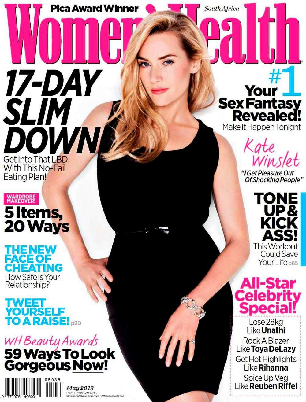 Kate Winslet magazines covers - South Africa Women's health, May 2013