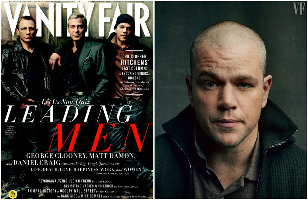 Matt Damon on the cover of Vanity Fair magazine, February 2012