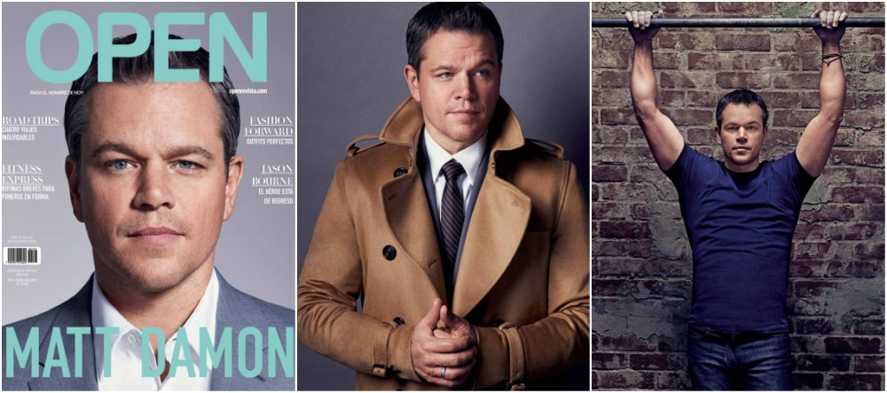 Matt Damon on the cover of Open magazine, Mexico, August 2016