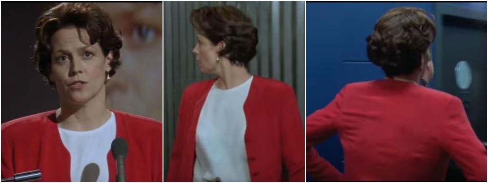 Sigourney Weaver hairstyle in movie Copycat,1995