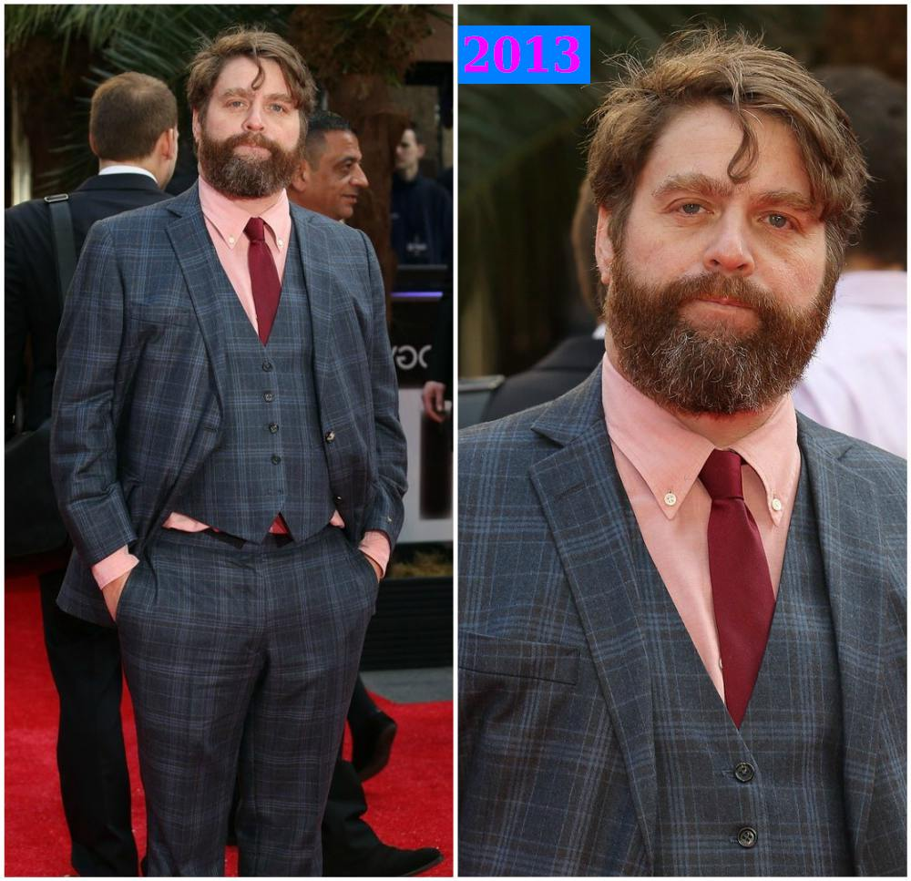 Zach Galifianakis extra kilos in Hangover 3, 2013