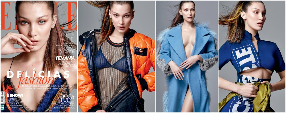 Bella Hadid magazines covers - Elle Brazil, February 2016