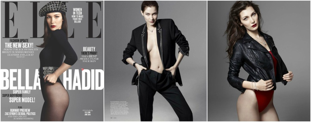 Bella Hadid magazines covers - Elle US, June 2016