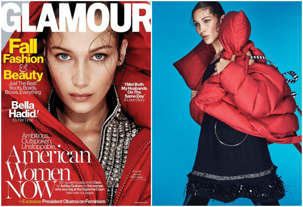 Bella Hadid magazines covers - Glamour, September 2016