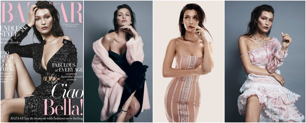 Bella Hadid magazines covers - Harper`s Bazaar Australis, August 2016