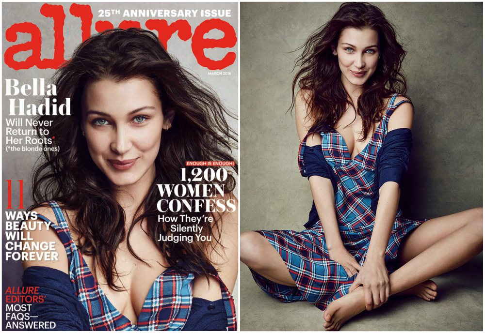 Bella Hadid magazines covers - Allure, March 2016