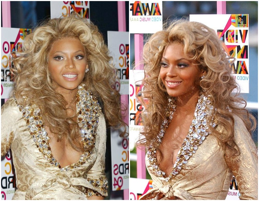 Beyonce`s hairstyles timeline - MTV Video Music Awards 2004
