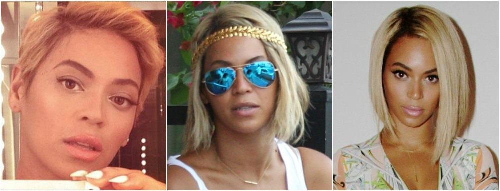 Beyonce`s hairstyles timeline - year 2013 pixie haircut