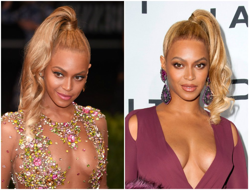 Beyonce`s hairstyles timeline - year 2015