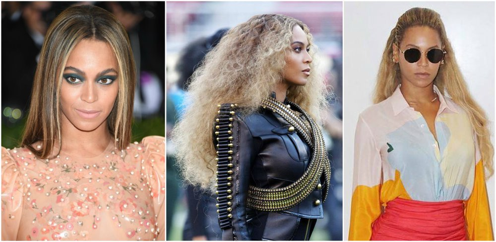 Beyonce`s hairstyles timeline - year 2016