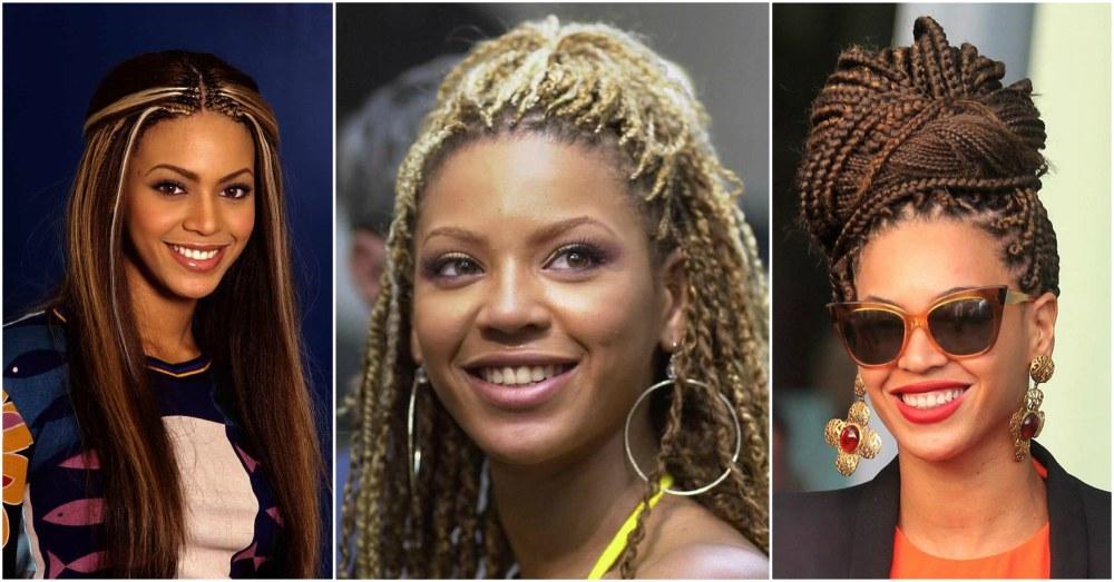 Beyonce`s hairstyles timeline - braids