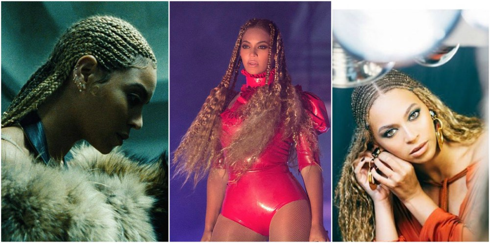 Beyonce`s hairstyles timeline - braids year 2016