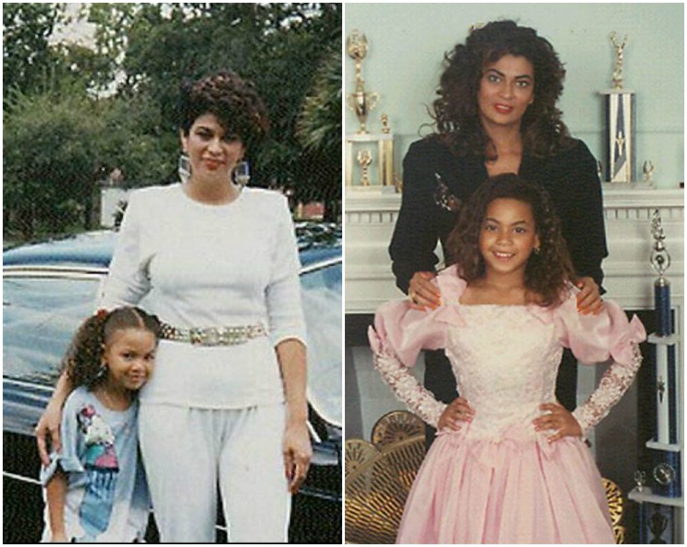 Beyonce as a child with her mom - Tina Knowles