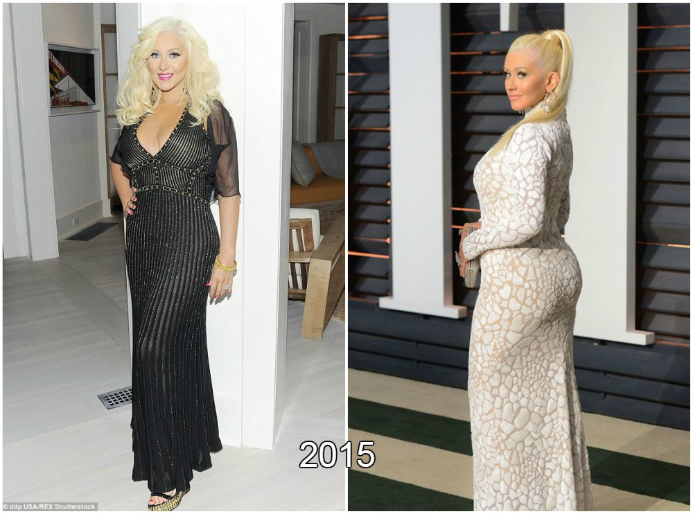 Christina Aguilera great body in 2015