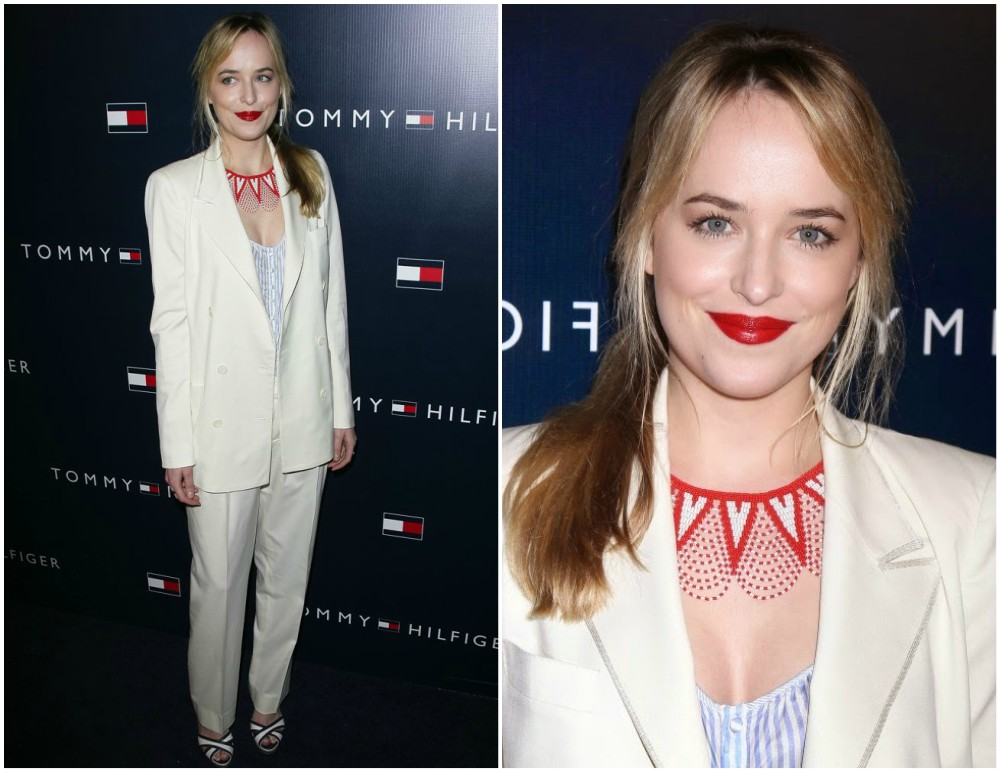 Dakota Johnson best red carpet appearences Tommy Hilfiger store opening, 2013