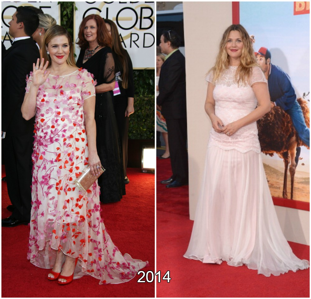 Drew Barrymore got weight after second pregnancy in 2014 , 2015