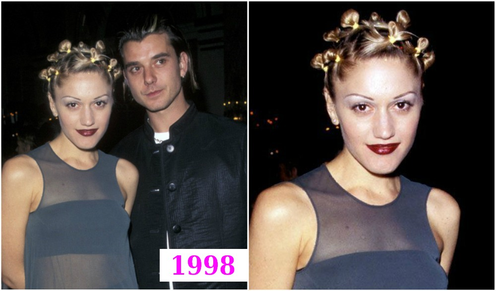 Gwen Stefani`s hairstyle -  topknots in Grammy Awards pre-party, 1998
