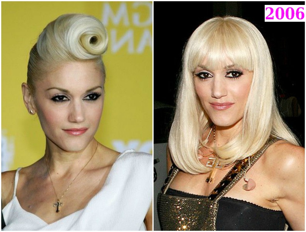 Gwen Stefani`s hairstyles in 2006