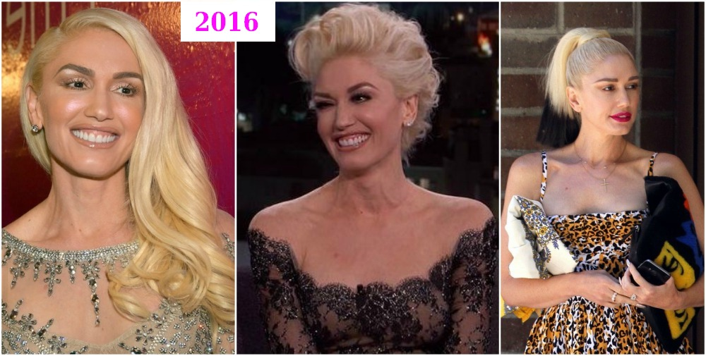 Gwen Stefani`s hairdos changes in 2016