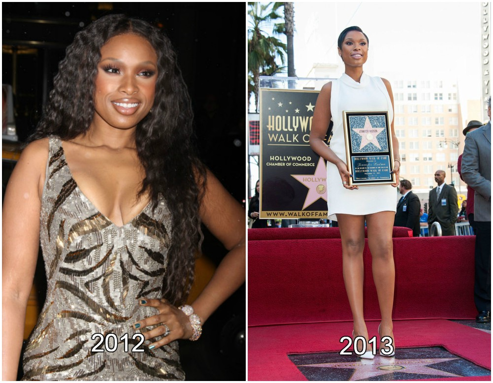 Jennifer Hudson perfect body shape in 2012 and 2013.