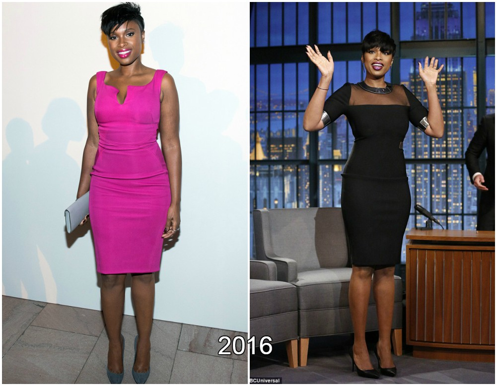 Jennifer Hudson`s slim body in 2016