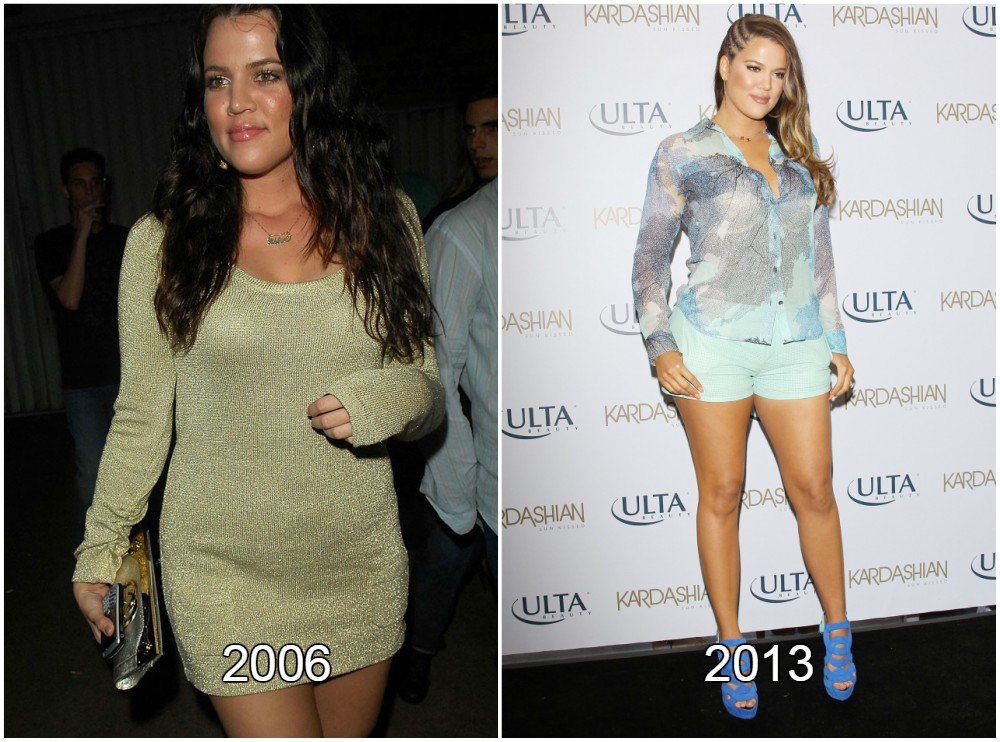 Khloe Kardashian gained weight in 2006 and 2013