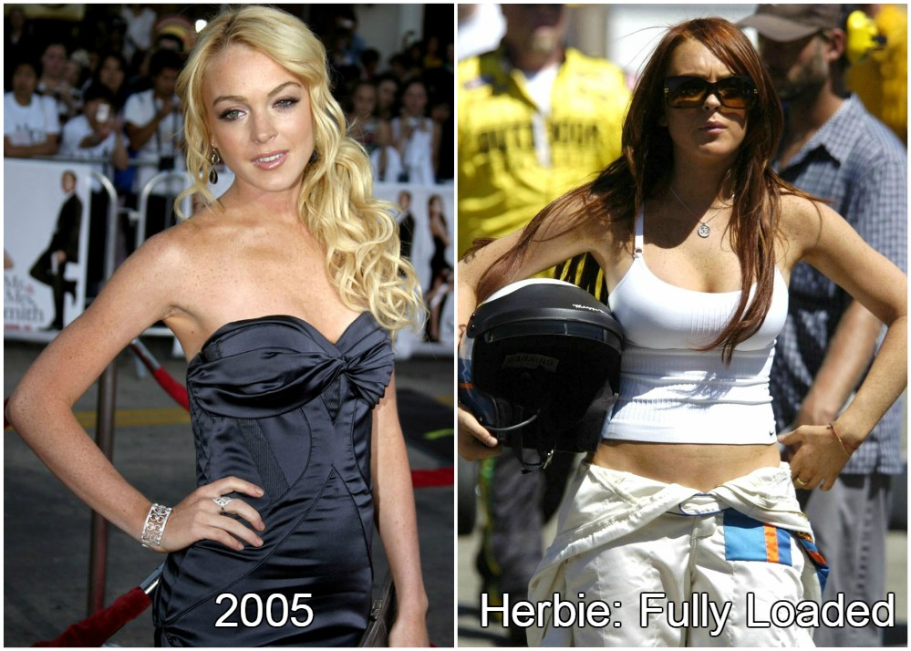 Lindsay Lohan in Herbie: Fully Loaded looking great, 2005