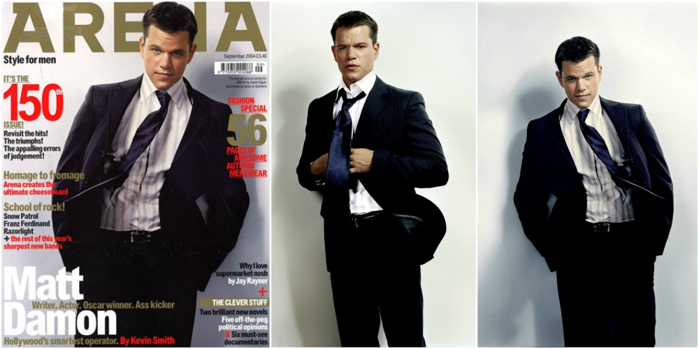 Matt Damon`s magazine cover Arena, September 2004