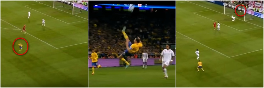 Zlatan Ibrahimovic best goals throughout career - Sweden vs England, Euro 2012